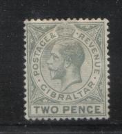 W883 - GIBILTERRA 1912 , GIORGIO V  N. 65 Linguellato Mint . Fil CA Mult - Gibilterra