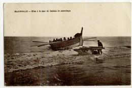 BLAINVILLE. - Mise à La Mer Du Bateau De Sauvetage - Blainville Sur Mer