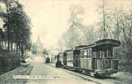 Belgique BONSECOURS  Route De Condé Et L'Eglise Avec Le Tramway - Tournai