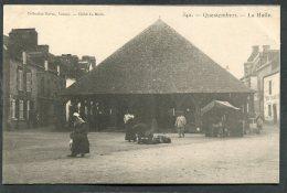 CPA - QUESTEMBERT - La Halle, Animé  (dos Non Divisé) - Questembert