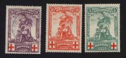 Belgien Mi.N° 104-06 Rotes Kreuz 1 X  Abgestempelt In ?FH?N?R 4. X. 191? - 1914-1915 Rotes Kreuz