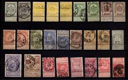 Mi.N° Von 1893 -??? Kleines Ensemble Von 26 Briefmarken Mit Anhängsel Für Die  Sonntagszustellung, - 1893-1900 Schmaler Bart