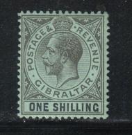 W967 - GIBILTERRA 1912 , GIORGIO V  N. 68 Linguellato Leggerissimo Mint . Fil CA Mult . - Gibilterra