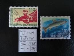 """1989  """" Nr. 946+ 965 """"  Echt Gelaufen, Schöne Stempel   LOT 576 - Liechtenstein"""