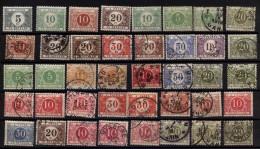 Kleines Konvolut Von 40 Porto Marken Bzw. Tax- Oder Nachportomarken , Mi.N° Ex 3 - 33 Nicht Komplett - Portomarken