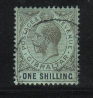 W1007 - GIBILTERRA 1921 , GIORGIO V  N 80 Usato. Fil CA Mult  Corsiva - Gibilterra