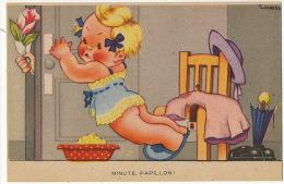 Gougeon Petite Fille En Culotte Surprise Par Amoureux Minute Papillon Amour - Gougeon