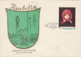 JIMBOLIA PHILATELIC EXHIBITION, SPECIAL COVER, 1968, ROMANIA - 1948-.... Republics