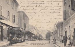 CPA - La Grand Combe - Rue Salavert Et L'Hôtel Des Voyageurs - La Grand-Combe