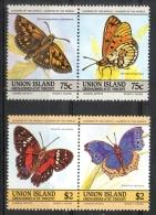 Union Island 1985 - Farfalle Butterflies MNH ** - St.Vincent E Grenadine