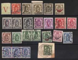 1936 Staatswappen Kleines Sammelsurium Der Ausgabe Staatswappen Mi.N° Ex 415/22 Und Andere - 1929-1937 Heraldischer Löwe