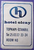 HOTEL  PENSION MOTEL OTELI OTEL MINI OLCAY TOPKASI ISTANBUL TURKEY DECAL STICKER LUGGAGE LABEL ETIQUETTE AUFKLEBER - Hotel Labels