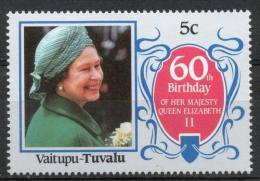 Tuvalu Vaitupu 1986 - Regina Elisabetta II Queen Elizabeth II MNH ** - Tuvalu