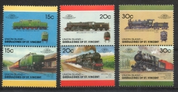 Union Island 1987 - Locomotive Ferroviarie Railway Locomotives Treni Trains MNH ** - St.Vincent E Grenadine