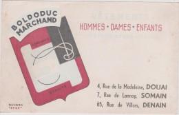 Buvard :   DOUAI ,  SOMAIN ,  DENAIN :  Boldoduc  Marchand - Buvards, Protège-cahiers Illustrés