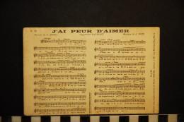 CP, FOLKLORE MUSIQUE Répertoire DALBRET Paroles De F DANEL J'ai Peur D'Aimer Vierge Ed Henri GREGH - Musica