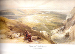 REPRODUCTION D´UNE LITHOGRAPHIE DE DAVID ROBERTS 1839 CANA EN GALILEE - Unclassified
