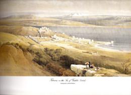 REPRODUCTION D´UNE LITHOGRAPHIE DE DAVID ROBERTS 1839 TIBERIAS SUR LA MER  EN GALILEE - Other Collections