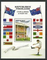 "Togo Bloc YT 260 "" Coupe Du Monde De Rugby "" 1987 Neuf** - Togo (1960-...)"