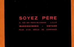 BUVARD : Soyez Pere LILLE  Fond Noir Ecriture Rouge - Kleidung & Textil
