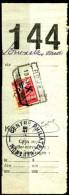 Belgien Mi.N° Postpaketmarke N° 13 Linke Hälfte Halbiert Auf Paketkartenabschnitt - Poststempel
