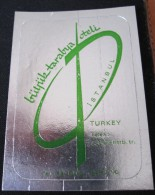 HOTEL  MOTEL OTELI OTEL TARABYA ISTANBUL TURKEY TURQUIE DECAL STICKER LUGGAGE LABEL ETIQUETTE AUFKLEBER - Hotel Labels