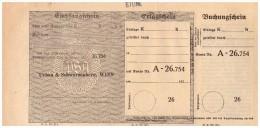 Original Empfangsschein / Erlagschein 1924  - Urban & Schwarzenberg In Wien , Post , Sparkasse !!! - Wechsel