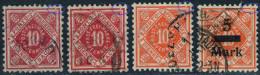 Lot Abarten Württemberg Mit 102 I In Zwei Farben, 150 I Und 159 I - Top - Allemagne