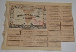Canal Inteoceanique De Panama, Obligation Nouvelle  De 1886, Couleur Marron - Navigation