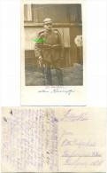 1. WK Fotokarte, Pickelhaube, Gewehr, Landsturm Infanterie Batl. IX.9 Hamburg - Weltkrieg 1914-18