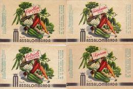 4  ETICHETTE PUBBLICITARIE-LABEL - VERDURE   - MASSALOMBARDA  SpA - Fruits & Vegetables