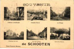 SChoten 1 CP  Souvenir De Schooten Chantier Naval  Village  Schooten Hoeve  Anno 1921 Photo Francois Merksem - Schoten