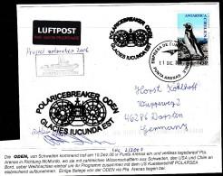 """ANTARCTIC,SCHWEDEN/U.S.A., Icebreaker"""" ODEN"""",Mission McMURDO 2006,3 Cachets+sign,look Scan !! 1.3-21 - Antarctische Expedities"""