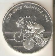MONEDA DE PLATA DE ANDORRA DE 10 DINERS AÑO 1994 CICLISMO (SILVER-ARGENT) OLIMPIADAS DEL AÑO 1996 - Andorra