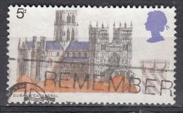 Gran Bretagna, 1969 - 5p Durham Cathedral - Nr.589 Usato° - 1952-.... (Elizabeth II)