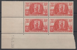 FRANCE - YT N° 423 X4 Coin Daté - Neuf ** - MNH - Cote 80,00 € - 1930-1939