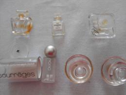 6 Miniatures Parfums, Bouchon Verre, Courrèges 2020 En Présentation Complète - Miniatures Womens' Fragrances (without Box)