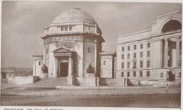 ROYAUME UNI,ANGLETERRE,england,WA RWICKSHIRE,BIRMINGHAM EN 1920,HALL OF MEMORY - Birmingham