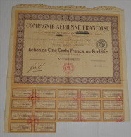 Cie Aerienne Française - Aviation