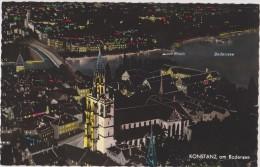 Allemagne,GERMANY,deutsch Land,BADE WURTEMBERG,KONSTANZ,VUE AERIENNE,NUIT,night
