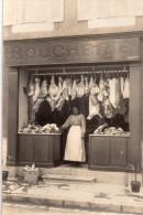 Carte Photo , Belle Devanture De Boucherie A Situer - A Identifier