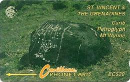 St. Vincent & Grenadines - Carib Petroglyph, 7CSVB, 1993, 10.000ex, Used - San Vicente Y Las Granadinas