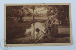 Old Postcard Scénes Et Types - Dans L´Oasis - Posted 1943 - Postales