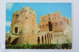 Syria Postcard - Aleppo Citadel Entrance - Siria