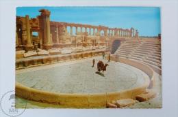 Syria Postcard - Zenobia Amphitheatre In Palmyre - Siria