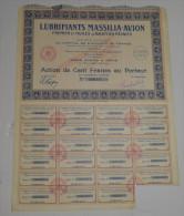 Lubrifiants Massilia-avion, Fremier Et Huiles D'aviation Réunies - Aviation