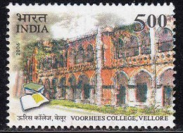 India MNH 2006, Voorhees College Vellore, Book, Education, Architecture - Inde