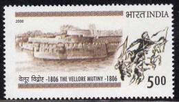 India MNH 2006,  Vellore Mutiny, Fort, Architecture, Horse, War, Militaria, Flag - Nuovi