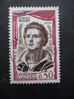 France N°1305 GERARD PHILIPE Dans Le Role Du Cid Oblitéré - Actores