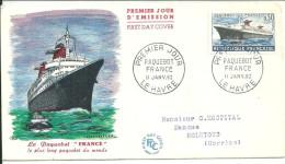 Bateaux  11 01 1962 Le Havre Paquebot France - Schiffe
